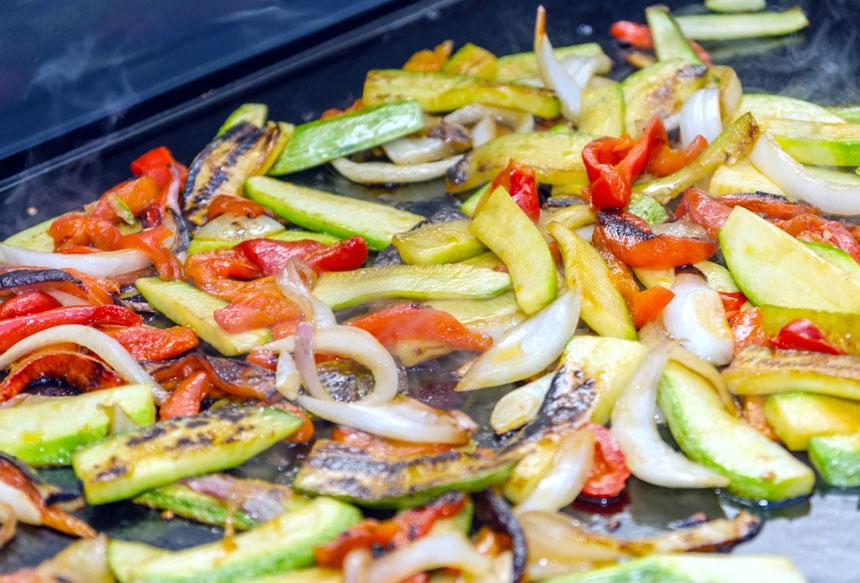 recettes légumes à la plancha